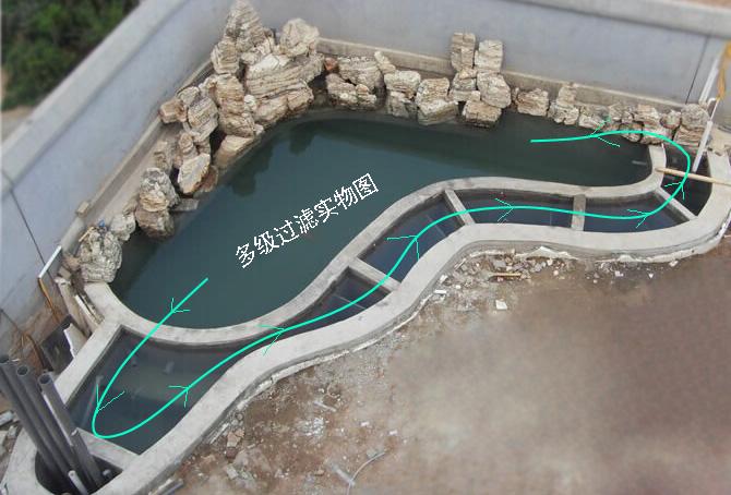 传统鱼池过滤系统